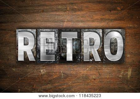 Retro Concept Metal Letterpress Type