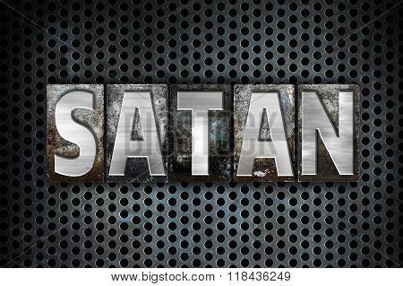 Satan Concept Metal Letterpress Type