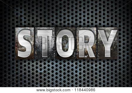 Story Concept Metal Letterpress Type