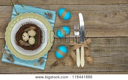 Easter Nest In A Plate