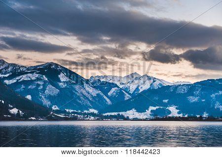 Mountains ski resort Zell am See Austria