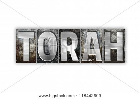 Torah Concept Isolated Metal Letterpress Type