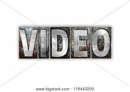 Video Concept Isolated Metal Letterpress Type