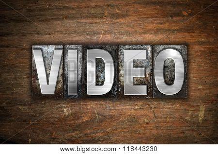 Video Concept Metal Letterpress Type