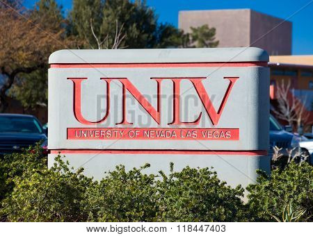 Campus Sign And Logo At The University Of Nevada
