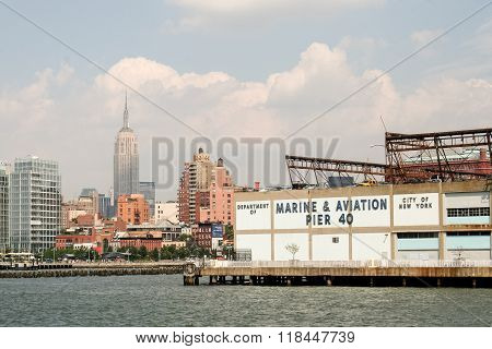 Pier 40 From The Hudson