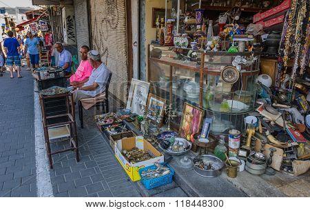 Flea market - sellers waiting for buyers