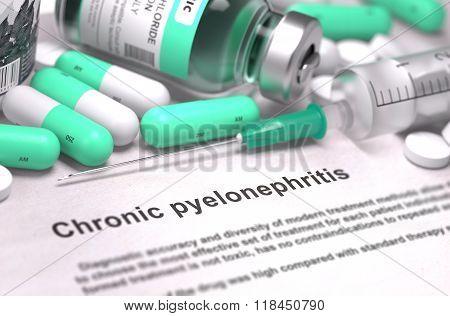 Chronic Pyelonephritis Diagnosis. Medical Concept.