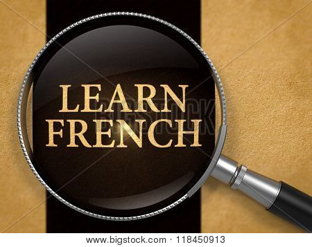 Learn French through Lens on Old Paper.
