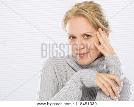 Fortyfive years old woman face