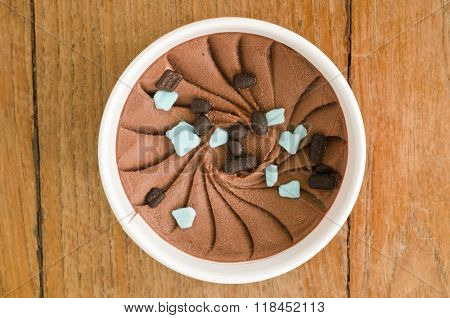 Chocolate Mint Italian Ice Cream Tub