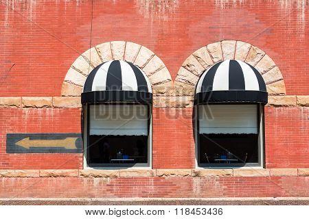 Two Windows In Deadwood, South Dakota