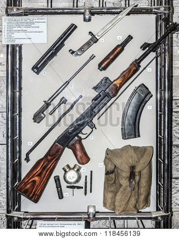 Main Parts And Mechanisms 7.62 Mm Kalashnikov Machine