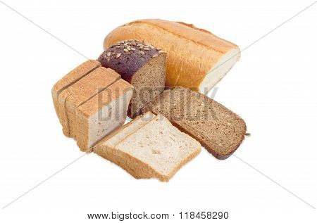 Various Bread On A Light Background