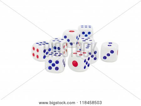 Standard Plastic Six-sided Dice With Rounded Corners