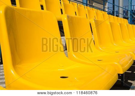 Yellow Seat Mats For Viewing Of Actions