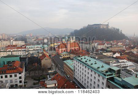 View From Neboticnik Skyscraper