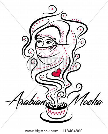 Arabian Mocha Black And Red Icon