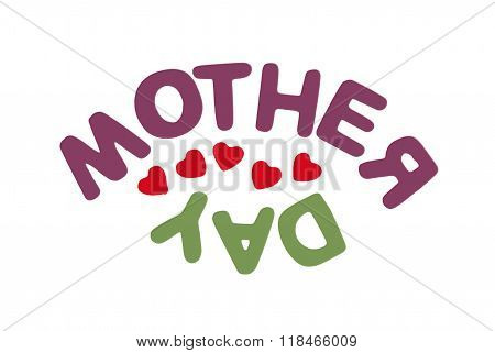 Title Mother's Day On The White Background, Symbolic Illustration