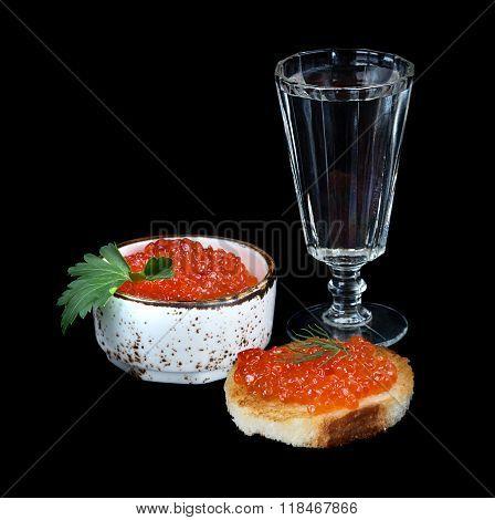 Vodka And Fish Eggs