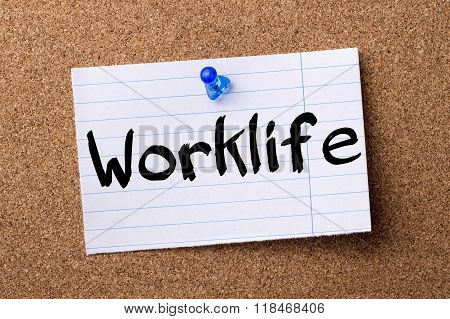 Worklife - Teared Note Paper Pinned On Bulletin Board