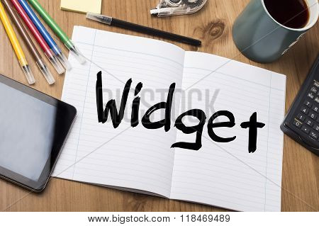 Widget - Note Pad With Text