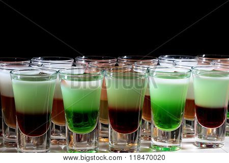 Closeup Of Colorful Shots