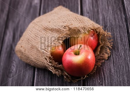 Sack Filled With Apples