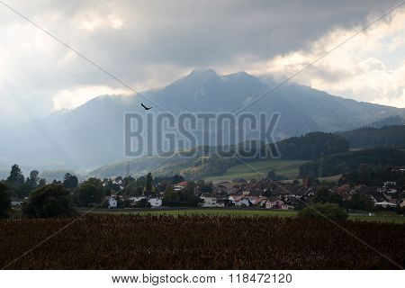 Landscape Of Montreux City Valley