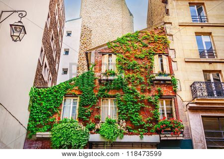 Facade of building in Paris, France