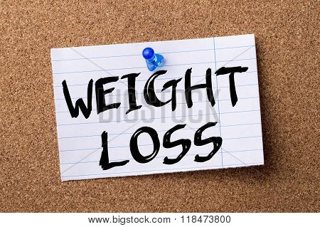 Weight Loss - Teared Note Paper Pinned On Bulletin Board