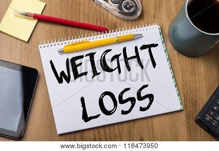 Weight Loss - Note Pad With Text