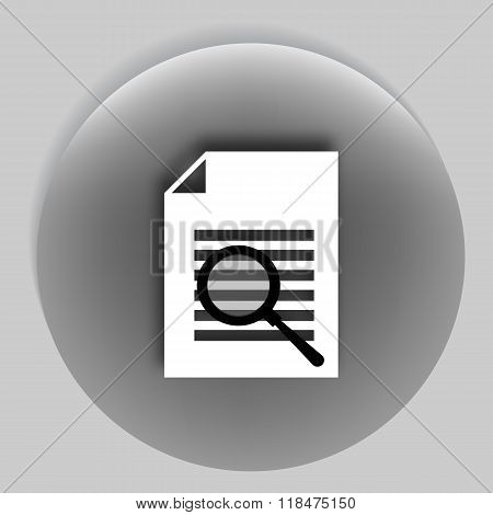 Flat Paper Cut Style Icon Of Text Seaching