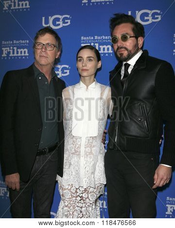 SANTA BARBARA - FEB 12:  Todd Haynes, Rooney Mara, Roger Durling at the 31st SBIFF- Cinema Vanguard Award at the Arlington Theatre on February 12, 2016 in Santa Barbara, CA