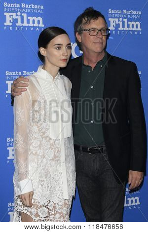 SANTA BARBARA - FEB 12:  Todd Haynes, Rooney Mara at the 31st Santa Barbara International Film Festival - Cinema Vanguard Award at the Arlington Theatre on February 12, 2016 in Santa Barbara, CA
