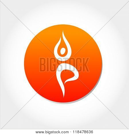 yoga sign, yoga asana, yoga sport