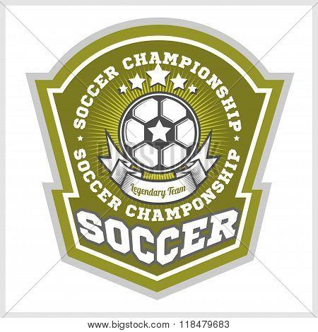 Football badge logo template design,soccer team