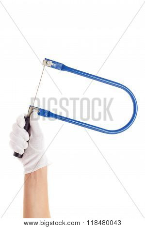 A Coping Saw In The Hands, Isolated