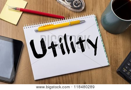 Utility - Note Pad With Text