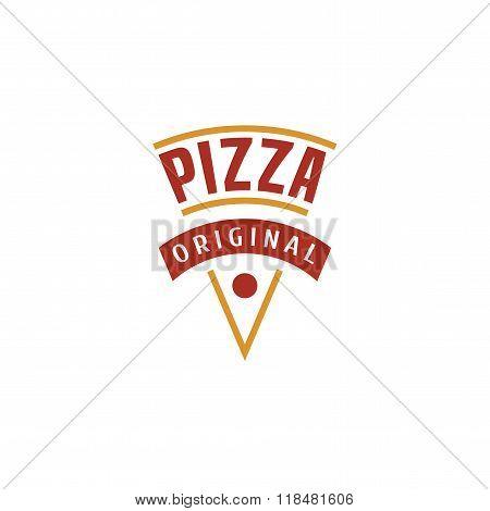 Vector logo, design element for pizza, pizzeria, pizza delivery, Italian restaurant