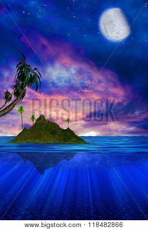 Floating Tropical Island