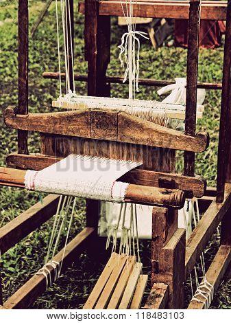 Vintage Weaving Loom Detail.toned Image