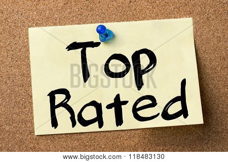 Top Rated - Adhesive Label Pinned On Bulletin Board
