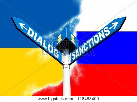 Dialog-sanctions Road Sign
