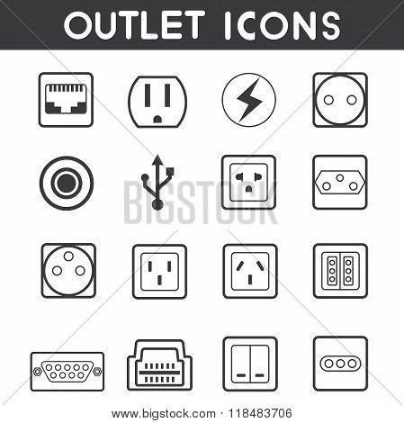 electric outlet icons