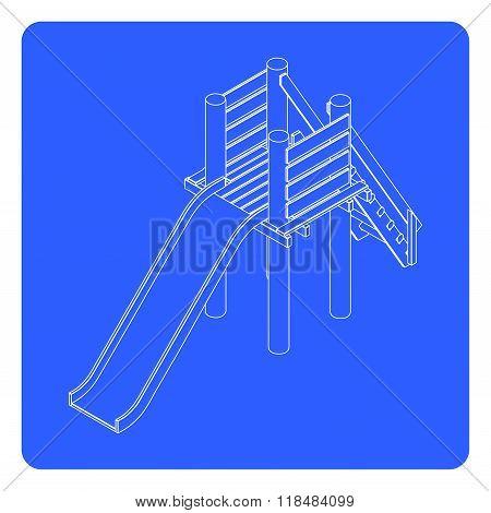 linear playfround slide illustration