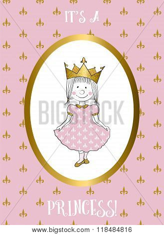 Its a girl card with small princess