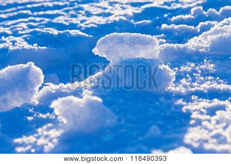 abstract snow background with snowdrifts
