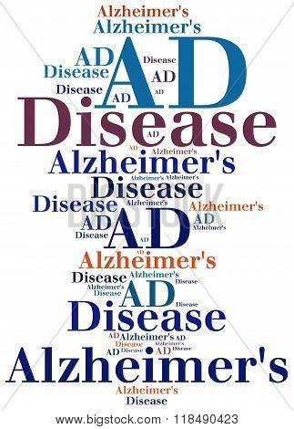 AD - Alzheimer's disease.  Mental disease abbreviation.