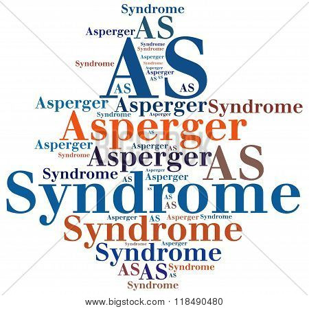 AS - Asperger Syndrome. Disease abbreviation related to autism diseases spectrum.